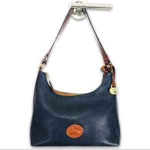 Dooney & Bourke Navy Pebbled Leather Bag